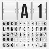 Contador de tiempo de la cuenta descendiente, marcador mecánico del color blanco Imágenes de archivo libres de regalías