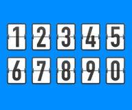 Contador de tiempo del contador de reloj de la cuenta descendiente del tirón La cuenta restante del tiempo del vector abajo mueve ilustración del vector
