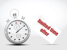 Contador de tiempo del vector el concepto ayuna envío Fotografía de archivo
