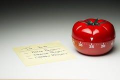 Contador de tiempo de la cocina para cocinar y trabajar productivo Fotografía de archivo