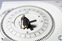 Contador de tiempo mayor C del termóstato de la señora Fotos de archivo libres de regalías