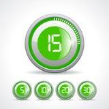 Contador de tiempo verde del vector Imagen de archivo libre de regalías