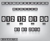 Contador de tiempo y fecha de la cuenta descendiente Fotos de archivo