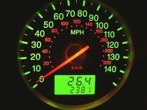 Contador de velocidad Foto de archivo libre de regalías