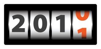 Contador del Año Nuevo Fotografía de archivo