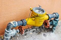 Contador del agua Fotografía de archivo libre de regalías