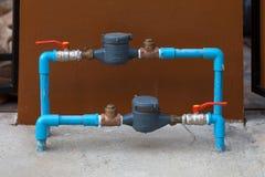 Contador del agua Imagenes de archivo