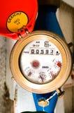 Contador del agua Fotografía de archivo
