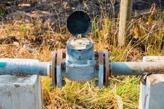 Contador del agua de la turbina Imagenes de archivo