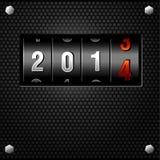 Contador del análogo del Año Nuevo 2014 Fotografía de archivo