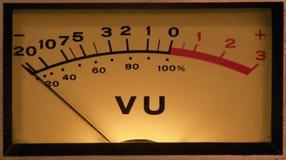 Contador del VU iluminado Fotografía de archivo