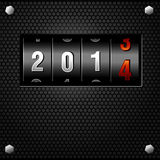 Contador do Analog do ano 2014 novo Fotografia de Stock