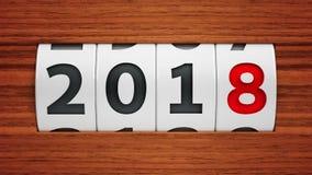 Contador do ano novo 2018 ilustração do vetor