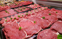 Contador do carniceiro Fotografia de Stock Royalty Free