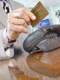 Contador do crédito Imagem de Stock