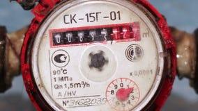 Contador do medidor de água video estoque