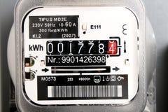 Contador eléctrico Foto de archivo libre de regalías