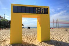 Contador en la playa de Tamarama Fotografía de archivo