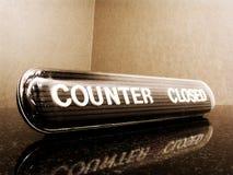 Contador fechado Fotos de Stock