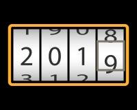 contador Feliz Año Nuevo imagenes de archivo