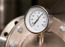 Contador industrial de la temperatura Fotografía de archivo