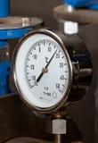 Contador industrial de la temperatura Fotos de archivo