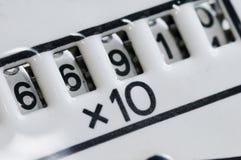 Contador multiplicado Imagen de archivo libre de regalías
