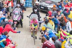 Contador, Radfahrersieger des Ausflugs 2015 von Italien Lizenzfreies Stockfoto