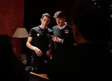 Contador and team general manager Luca Guercilena Stock Photos