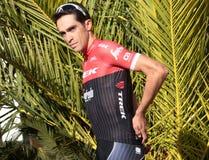Contador Trek team training camp in Mallorca Royalty Free Stock Photos
