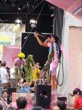 Contador vince il novantunesimo d'Italia di postagiro Fotografia Stock Libera da Diritti