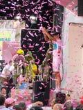 Contador vince il novantunesimo d'Italia di postagiro Fotografia Stock
