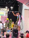 Contador wins the 91st Giro d'Italia. Event: Giro d'Italia Last Race from Cesano Maderno to Milan Royalty Free Stock Photo