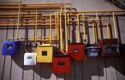 Contadores coloridos do gás Imagem de Stock Royalty Free