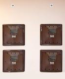 Contadores de gas fotografía de archivo