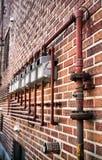 Contadores de gas Foto de archivo libre de regalías