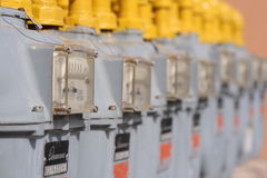 Contadores de gas de Enbridge Fotografía de archivo