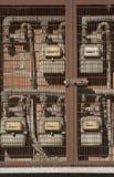 Contadores de gas natural Imágenes de archivo libres de regalías