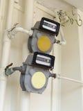 Contadores de gas natural foto de archivo libre de regalías