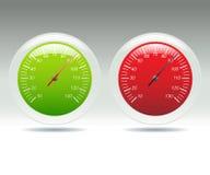 Contadores de la velocidad Foto de archivo libre de regalías