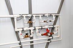 Contadores del agua Fotos de archivo