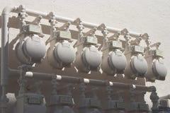 Contadores del agua Fotos de archivo libres de regalías