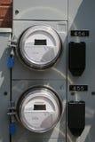 Contadores eléctricos Imágenes de archivo libres de regalías
