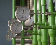 Contadores industriales de la temperatura Imagen de archivo libre de regalías