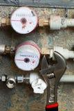 Contadores para el agua Imagen de archivo libre de regalías