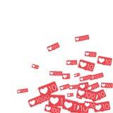 Contadores sociais dos meios Imagem de Stock Royalty Free