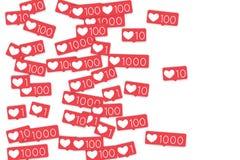 Contadores sociais dos meios Fotos de Stock Royalty Free