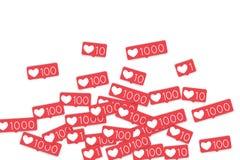 Contadores sociais dos meios Imagens de Stock Royalty Free