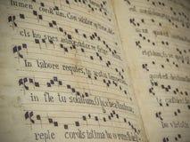 Contagem antiga da música sagrado fotos de stock