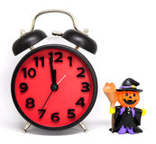 A contagem cronometra para baixo o brinquedo do fantasma das abóboras Fotografia de Stock Royalty Free